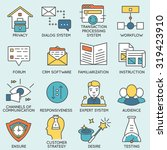 vector set of icons related to... | Shutterstock .eps vector #319423910