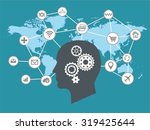 internet of things and thinking ... | Shutterstock .eps vector #319425644