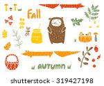 vector set of autumn things in... | Shutterstock .eps vector #319427198