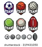 template logos for sports teams ... | Shutterstock .eps vector #319431050
