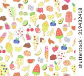 seamless pattern with colorful... | Shutterstock . vector #319432418