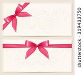 gift certificate  voucher ... | Shutterstock . vector #319433750
