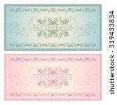 gift certificate  voucher ... | Shutterstock . vector #319433834