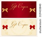 gift certificate  coupon ... | Shutterstock . vector #319433840
