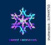 vector christmas sparkling... | Shutterstock .eps vector #319449710