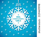 vector snowflake tag  ... | Shutterstock .eps vector #319449998