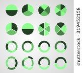 set of circle diagram | Shutterstock .eps vector #319452158