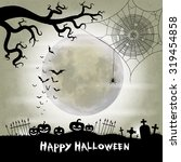 halloween vector background... | Shutterstock .eps vector #319454858
