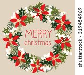 merry christmas card with a... | Shutterstock .eps vector #319454969
