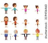 flat vector characters for... | Shutterstock .eps vector #319456460