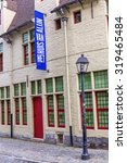 Small photo of GHENT, BELGIUM - SEPTEMBER 02, 2015: house Van Alijn in Ghent. It is a museum that shows a collection of the daily life in the 20th century. Its located in a former Almshouse