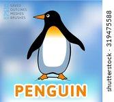 penguin logo | Shutterstock .eps vector #319475588