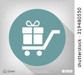 pictograph of gift | Shutterstock .eps vector #319480550
