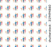 family icon seamless pattern ... | Shutterstock . vector #319494860