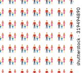 family icon seamless pattern ... | Shutterstock . vector #319494890