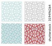 seamless vintage geometric... | Shutterstock .eps vector #319496264