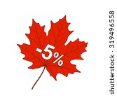autumn discount 5  | Shutterstock .eps vector #319496558