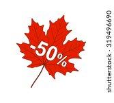 autumn discount 50  | Shutterstock .eps vector #319496690