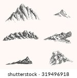 set of mountain and rock... | Shutterstock .eps vector #319496918