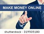 businessman hand touching make... | Shutterstock . vector #319505180