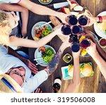 food table celebration... | Shutterstock . vector #319506008