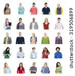 diverse people global... | Shutterstock . vector #319506899