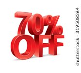 70 percent off promotional... | Shutterstock .eps vector #319508264