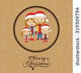 merry christmas concept with... | Shutterstock .eps vector #319509794