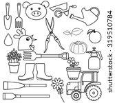 set of farming harvesting and... | Shutterstock . vector #319510784
