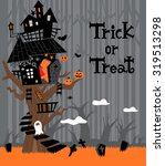 halloween background with the...   Shutterstock .eps vector #319513298