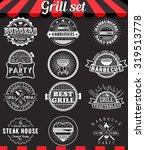 grill vintage design elements... | Shutterstock .eps vector #319513778