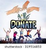 donate money charity generous... | Shutterstock . vector #319516853