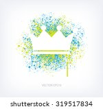 vector paint splatter design  ... | Shutterstock .eps vector #319517834