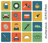 auto service colorful flat... | Shutterstock .eps vector #319519964