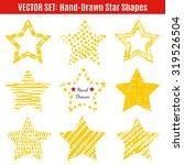 set of hand drawn textures star ... | Shutterstock .eps vector #319526504