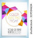 colorful abstract design... | Shutterstock .eps vector #319534634