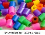 plastic beads many rainbow... | Shutterstock . vector #319537088