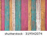 Colorful Wooden Plank Panel...