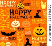 halloween seamless background... | Shutterstock .eps vector #319546520