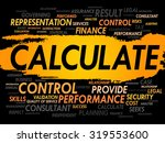 calculate word cloud  business... | Shutterstock .eps vector #319553600