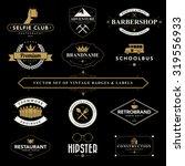set of vintage  badges and... | Shutterstock .eps vector #319556933