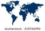 world map  denim blue  | Shutterstock .eps vector #319556990