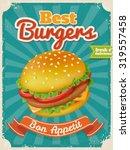 vector best burgers poster in... | Shutterstock .eps vector #319557458