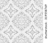 Seamless Damask Pattern In Gre...