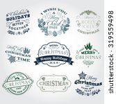 hand drawn christmas and new...   Shutterstock .eps vector #319559498