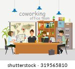 concept of the coworking center.... | Shutterstock .eps vector #319565810