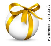 white 3d sphere with beautiful...   Shutterstock . vector #319566578