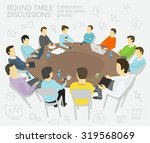 group of business people having ... | Shutterstock .eps vector #319568069