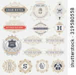 15 vintage labels and banners.... | Shutterstock .eps vector #319580558