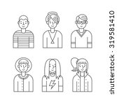 people outline gray icons... | Shutterstock .eps vector #319581410